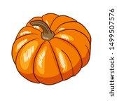 vector illustration pumpkin... | Shutterstock .eps vector #1499507576