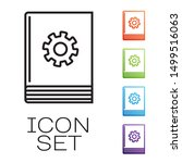 black line user manual icon... | Shutterstock .eps vector #1499516063