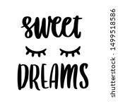 hand drawn lettering phrase ... | Shutterstock .eps vector #1499518586