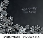 christmas holiday design with... | Shutterstock .eps vector #1499525516