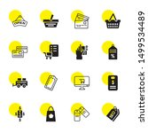 purchase icons. editable 16... | Shutterstock .eps vector #1499534489