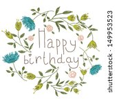 Birthday Card On A Floral...