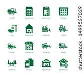 forklift icons. editable 16... | Shutterstock .eps vector #1499537039