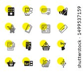 purchase icons. editable 16... | Shutterstock .eps vector #1499537159
