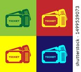 color ticket icon isolated on... | Shutterstock .eps vector #1499539073