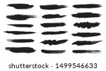 black ink grunge brush strokes. ... | Shutterstock .eps vector #1499546633