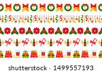 christmas  new year simple... | Shutterstock .eps vector #1499557193