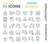 set of linear icons with... | Shutterstock .eps vector #1499559683