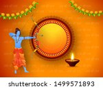 illustration of lord rama... | Shutterstock .eps vector #1499571893