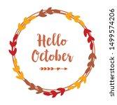 template design hello october... | Shutterstock .eps vector #1499574206