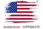 usa flag painted with brush on... | Shutterstock . vector #1499580170
