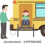 illustration of a kid boy... | Shutterstock .eps vector #1499586080