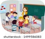 illustration of kids and... | Shutterstock .eps vector #1499586083