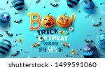 "halloween poster with text ""boo ... 