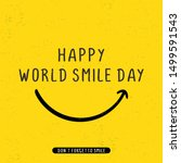 happy world smile day banner... | Shutterstock .eps vector #1499591543
