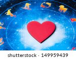 red heart lying on astrology... | Shutterstock . vector #149959439
