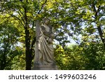 Angel Cemetery Statue With A...