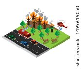 Wildfires Disaster Isometric...