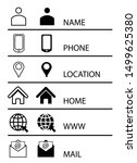 icon set web mobile email... | Shutterstock .eps vector #1499625380
