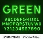 neon glowing green 3d letters...