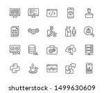 software development flat line... | Shutterstock .eps vector #1499630609