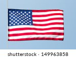the american flag in the wind... | Shutterstock . vector #149963858
