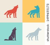 set of wolf logo. icon design.... | Shutterstock . vector #1499655173