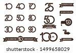 set of anniversary pictogram... | Shutterstock .eps vector #1499658029