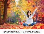 happy woman enjoying life in... | Shutterstock . vector #1499659283