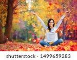 happy woman enjoying life in... | Shutterstock . vector #1499659283
