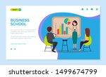business school vector  woman... | Shutterstock .eps vector #1499674799