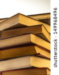 stack of old books isolated on... | Shutterstock . vector #149968496