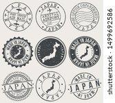 japan travel stamp made in... | Shutterstock .eps vector #1499692586