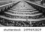 Train Rails Black And White...