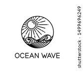 vector design of ocean waves... | Shutterstock .eps vector #1499696249