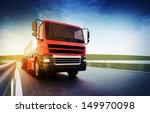 3d illustration of a red truck... | Shutterstock . vector #149970098