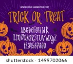 halloween font. typography... | Shutterstock .eps vector #1499702066