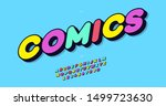comics vector alphabet colorful ... | Shutterstock .eps vector #1499723630