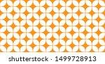 mid century modern wallpaper... | Shutterstock .eps vector #1499728913