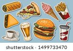 junk fast food  burger and... | Shutterstock .eps vector #1499733470