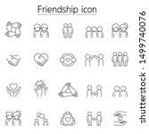 friendship icon set in thin... | Shutterstock .eps vector #1499740076