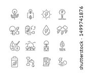 Line Icon Set Is Energy From...