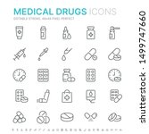 collection of medical drugs... | Shutterstock .eps vector #1499747660