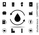 oil  arrow icon . set of...
