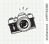 photo camera doodle icon. hand... | Shutterstock .eps vector #1499763380