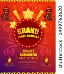 diwali festival sale design... | Shutterstock .eps vector #1499763620