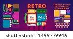 retro signboard creator. set... | Shutterstock .eps vector #1499779946