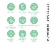 vector  design  icon  leaf ... | Shutterstock .eps vector #1499781116