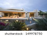 swimming pool and modern house...   Shutterstock . vector #149978750