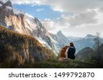 Girl With A Toller Dog In The...